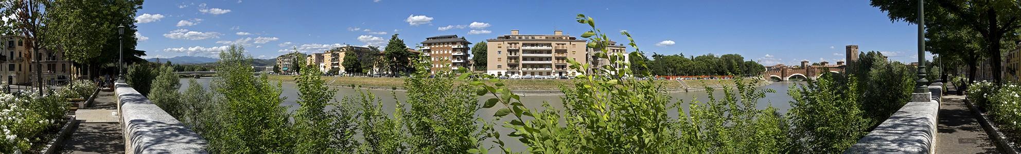 Etsch (Adige), Ponte Scaligero (Skaligerbrücke), Castelvecchio Verona
