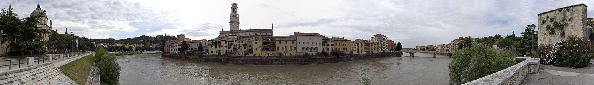 Verona Centro Storico (Altstadt) Duomo Cattedrale di Santa Maria Matricolare Etsch Ponte Garibaldi San Giorgio in Braida Torre e Postazione d' Artiglieria