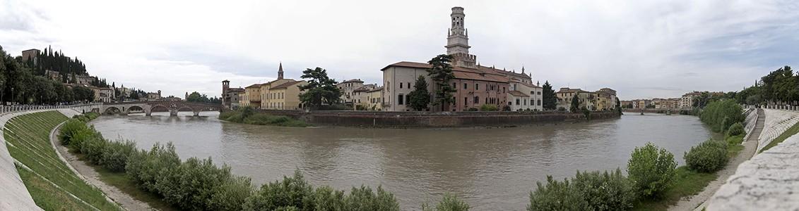 Verona Centro Storico (Altstadt) Castel San Pietro Duomo Cattedrale di Santa Maria Matricolare Etsch Ponte Garibaldi Ponte Pietra