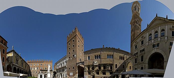 Verona Centro Storico (Altstadt): Piazza dei Signori Loggia del Consiglio Palazzo del Podestà Palazzo della Ragione Palazzo di Cansignorio Torre dei Lamberti