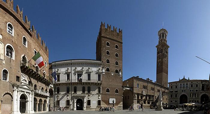 Verona Centro Storico (Altstadt): Piazza dei Signori Palazzo del Podestà Palazzo della Ragione Palazzo di Cansignorio Torre dei Lamberti