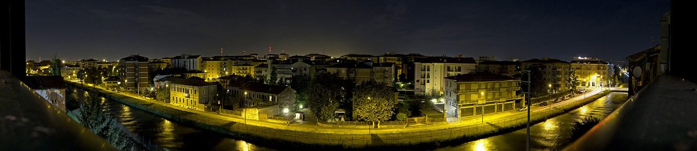 Blick aus dem Hotel Porta Palio (nachts) Verona