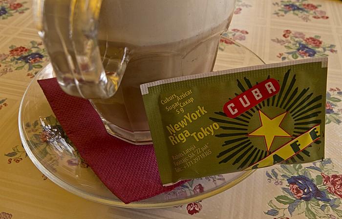 Riga Altstadt: Cuba Cafe: Caffè Latte