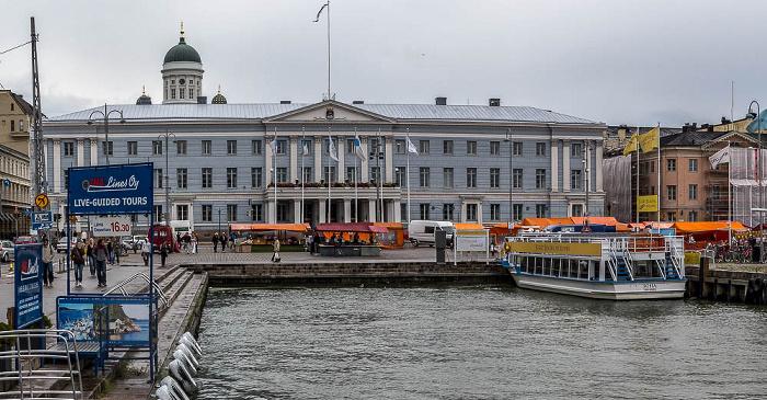 Kruununhaka mit dem Rathaus (Helsingin kaupungintalo), Südhafen Helsinki 2011