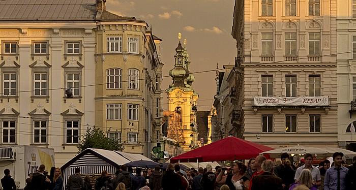 Linz Altstadtviertel: Hauptplatz, Landstraße, Ursulinenkirche