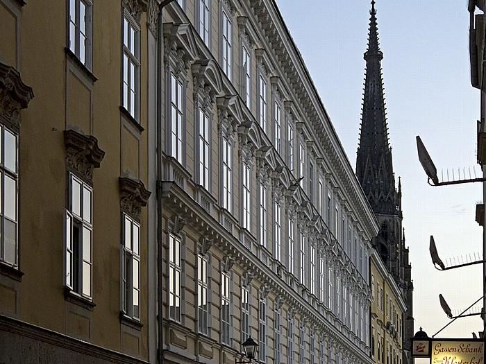Linz Altstadtviertel: Bischofstraße, Mariendom (Neuer Dom)