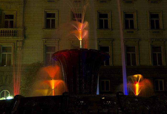 Sofia Atanas-Burov-Platz: Brunnen Ehem. Hauptsitz der Bulg. Kommunistischen Partei