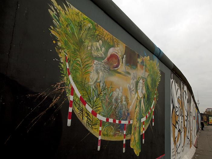 East Side Gallery (Berliner Mauer) Fernsehturm