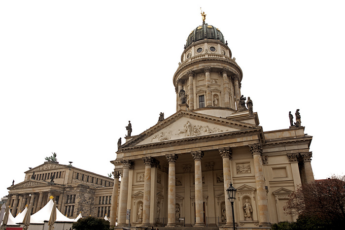 Berlin Mitte: Gendarmenmarkt - Konzerthaus, Französischer Dom