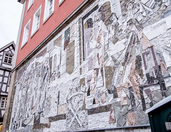 Altstadt: Rathaus - Mosaik Die Weiber von Schorndorf
