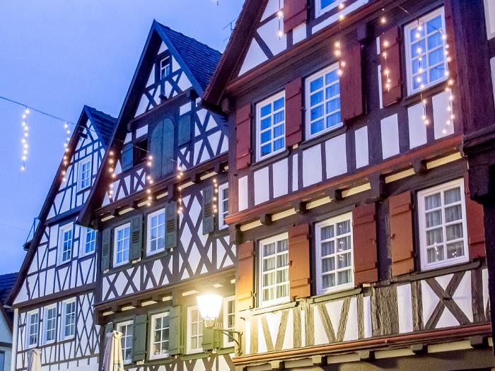 Schorndorf Altstadt: Höllgasse - Geburtshaus von Gottlieb Daimler (rechts)