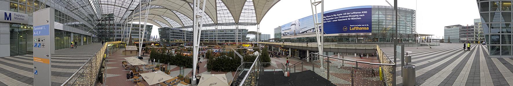 München Flughafen Franz Josef Strauß: Munich Airport Center (MAC) - Weihnachtsmarkt Flughafen Franz Josef Strauß