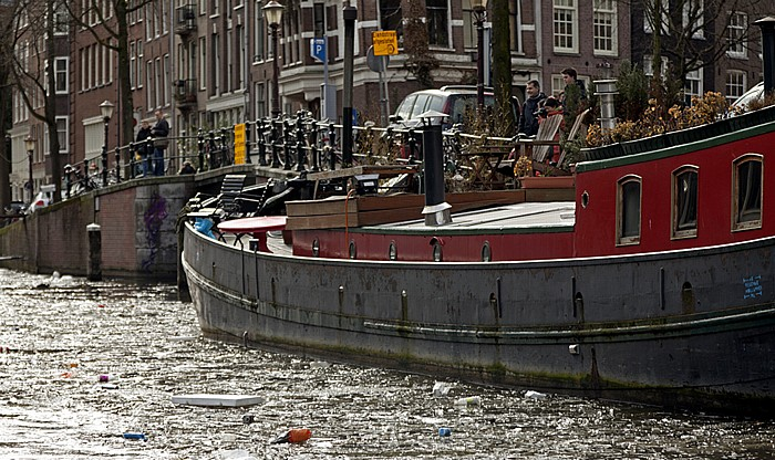 Prinsengracht: Hausboot Amsterdam