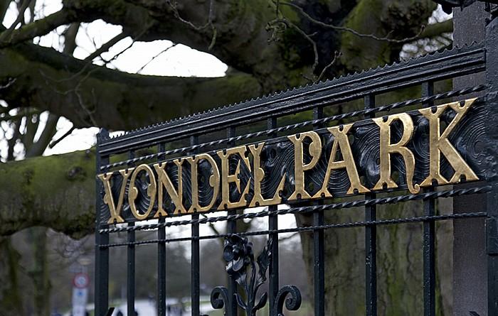 Vondelpark: Eingangstor Amsterdam
