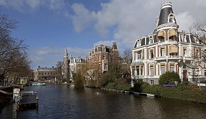 Blick von der Museumbrug: Singelgracht Amsterdam
