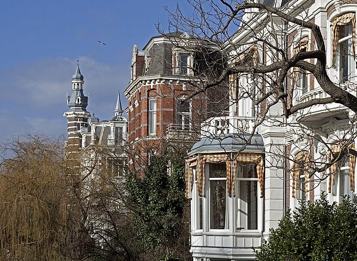Amsterdam Blick von der Museumbrug: Singelgracht