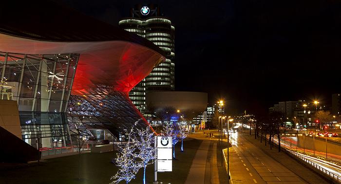 München BMW Welt, BMW-Hochhaus, BMW-Museum, Georg-Brauchle-Ring (Mittlerer Ring)