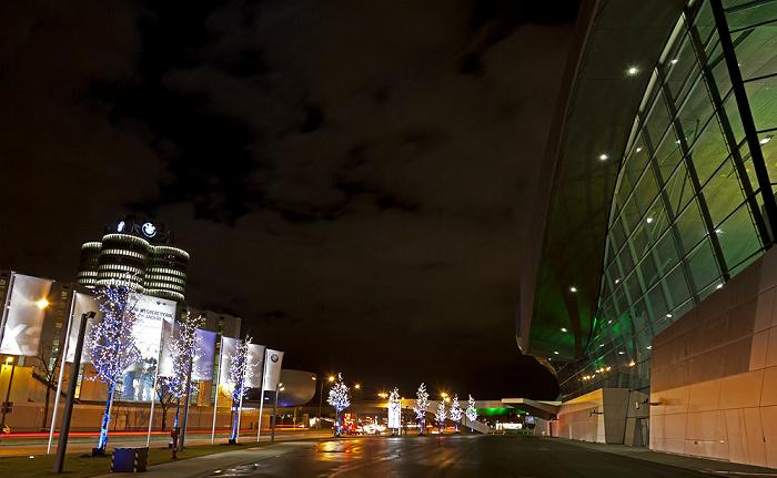 München Lerchenauer Straße, BMW-Werkshallen, BMW-Hochhaus, BMW-Museum, BMW Welt