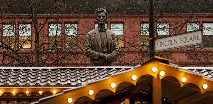Manchester Lincoln Square: Abraham-Lincoln-Denkmal