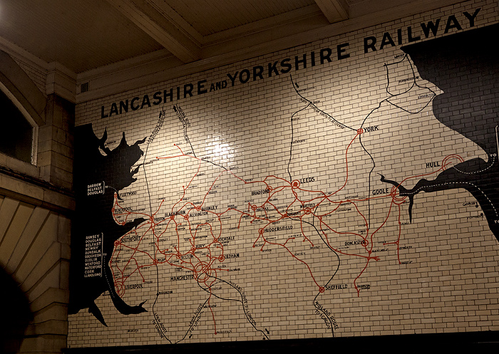 Manchester Victoria Station: Netzplan der Lancashire and Yorkshire Railway