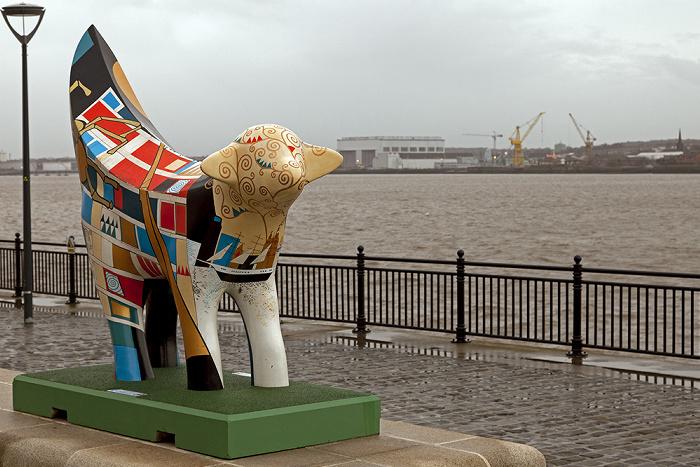 Liverpool Pier Head: Superlambanana Birkenhead