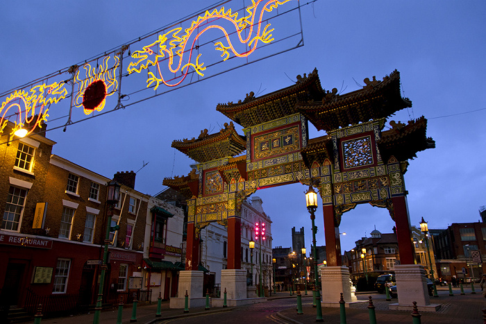 Liverpool Chinatown: Nelson Street - Chinesisches Tor