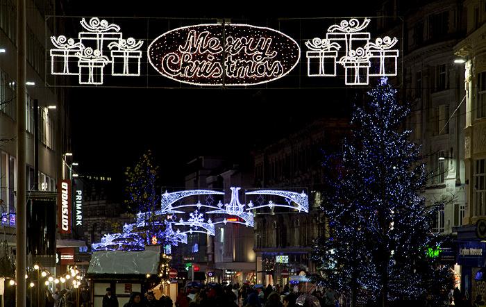 Liverpool Church Street mit Weihnachtsmarkt