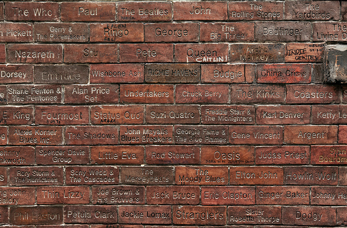 Liverpool Mathew Street: The Cavern Wall of Fame