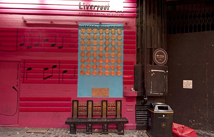 Mathew Street: Liverpool Wall of Fame