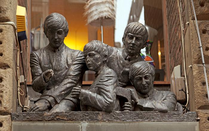 Liverpool Mathew Street: Beatles-Denkmal