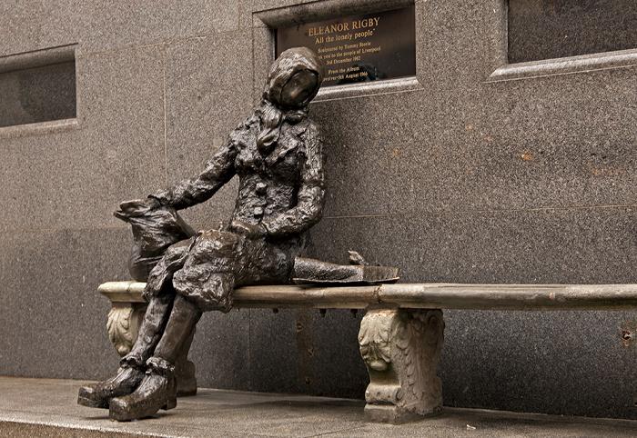 Liverpool Stanley Street: Eleanor-Rigby-Skulptur