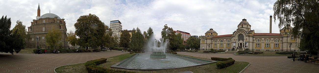 Bad-Platz (Banski-Platz): Banja-Baschi-Moschee und Zentrales Mineralbad Sofia