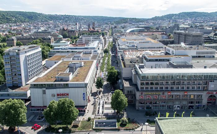 Stuttgart Hauptbahnhof: Blick vom Bahnhofsturm