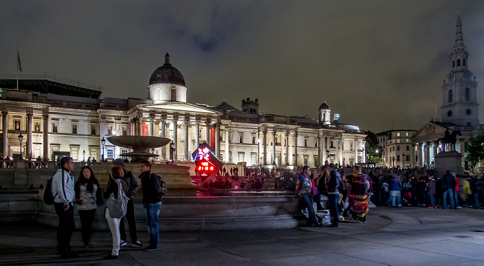 London City of Westminster: Trafalgar Square mit National Gallery und St Martin-in-the-Fields