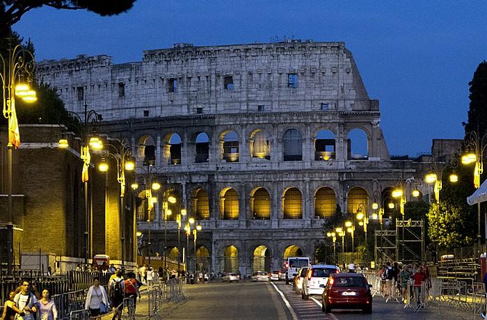 Via dei Fori Imperiali, Kolosseum (Amphitheatrum Flavium) Rom