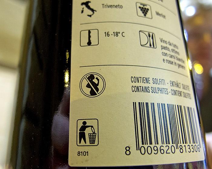 Rom Weinflasche