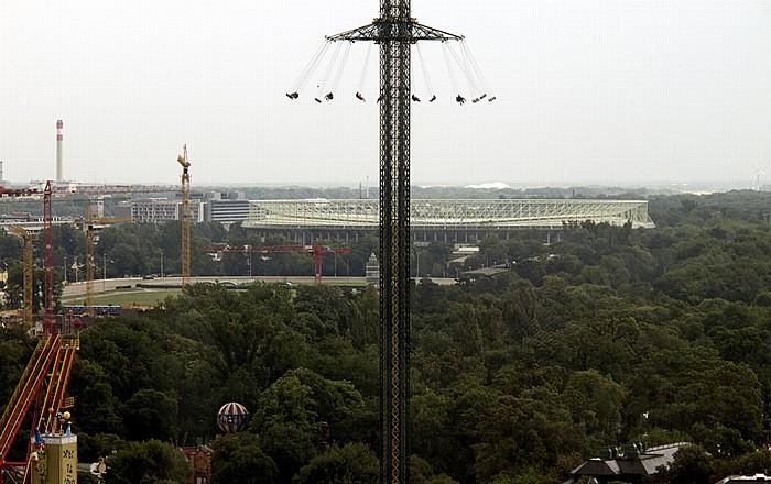 Wiener Prater (Wurstelprater): Blick aus dem Riesenrad Wien