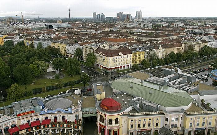Wiener Prater (Wurstelprater): Blick aus dem Riesenrad - Leopoldstadt Wien