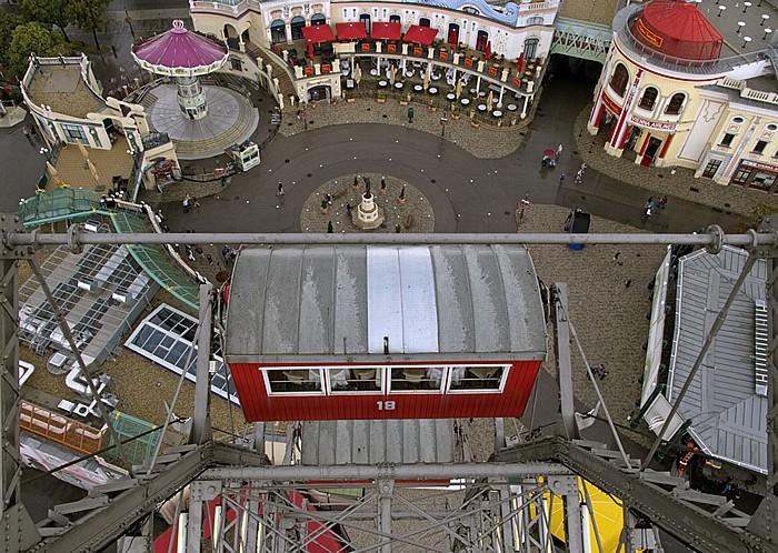 Wiener Prater (Wurstelprater): Blick aus dem Riesenrad - Riesenradplatz Wien