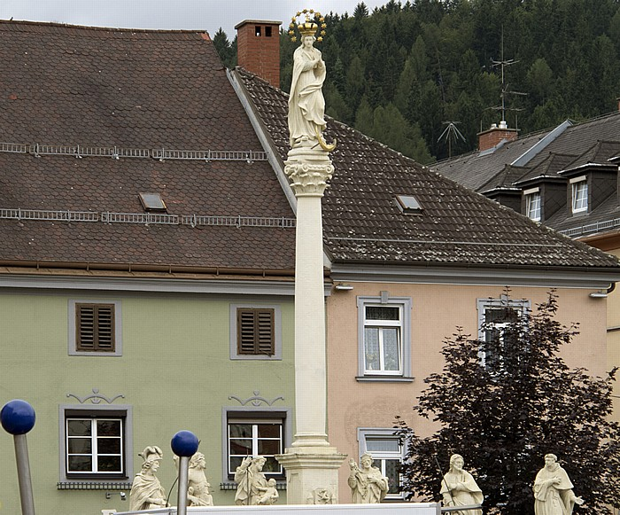 Bruck an der Mur Hauptplatz: Mariensäule (Pestsäule)