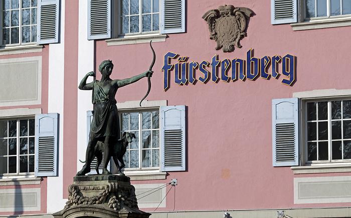 Donaueschingen Dianabrunnen Fürstenberg-Brauerei