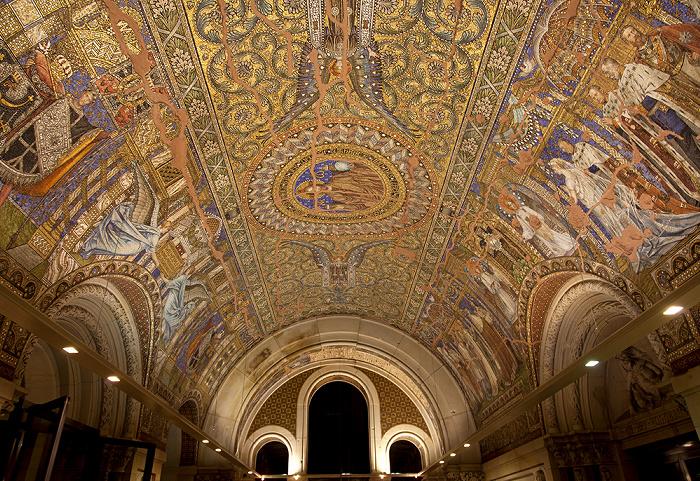 Berlin Kaiser-Wilhelm-Gedächtniskirche: Deckenmosaik der Eingangshalle Kaiser-Wilhelm-Gedächtnis-Kirche