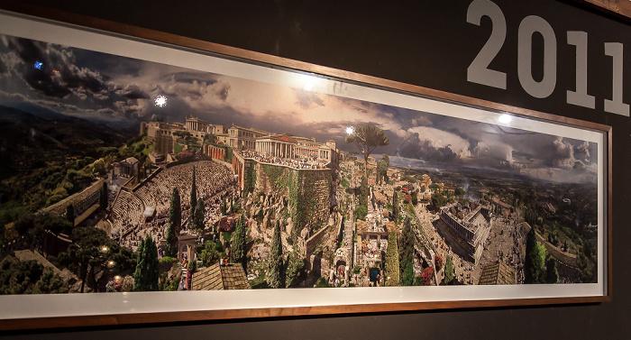 Berlin Pergamonmuseum: Künstlerische Illustration von Pergamon