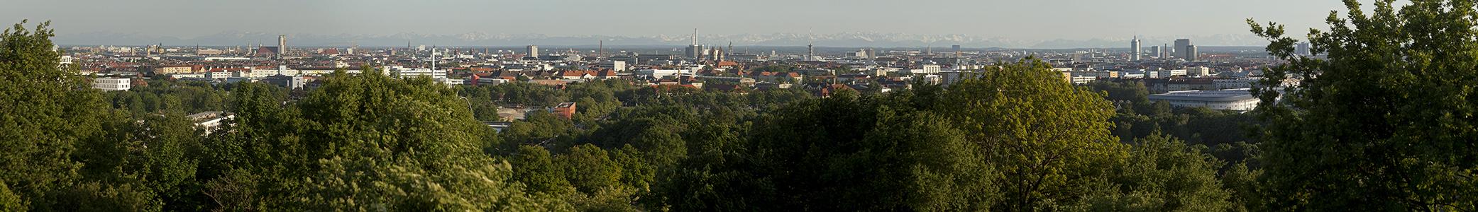 Blick vom Olympiaberg München