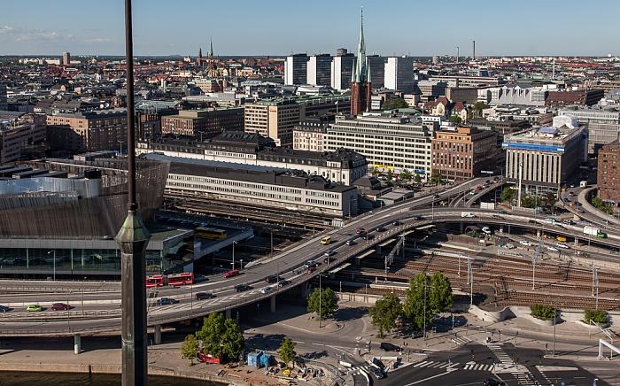 Blick vom Stadshuset (Rathaus): Norrmalm Stockholm 2012