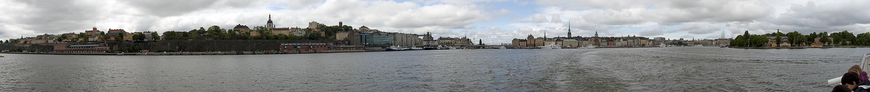 Fähre Stockholm - Vaxholm: Saltsjön Gamla stan Katharinenkirche Skeppsholmen Södermalm