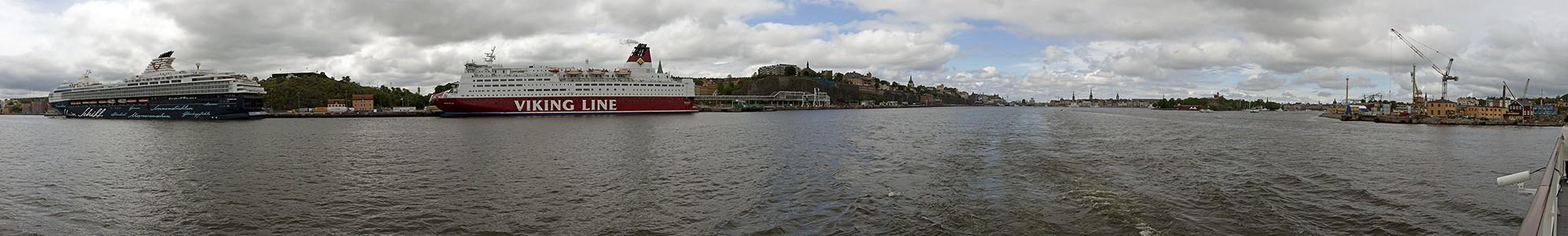 Fähre Stockholm - Vaxholm: Saltsjön Beckholmen Gamla stan Kastellholmen Kreuzfahrterminal Södermalm Viking Line Terminal