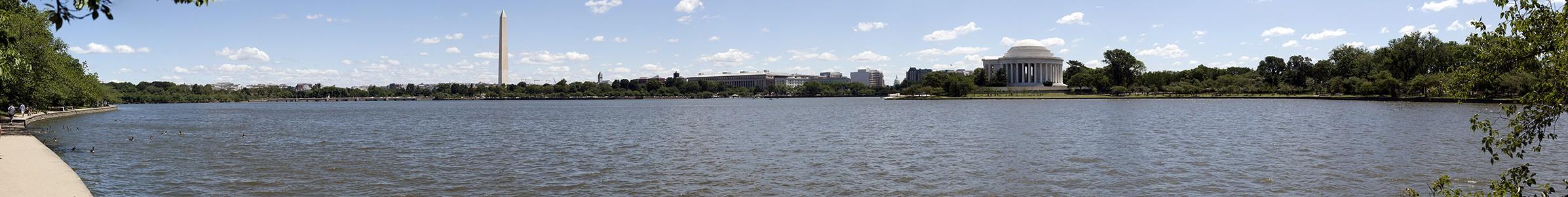 Washington, D.C. West Potomac Park: Tidal Basin, Washington Monument, Jefferson Memorial