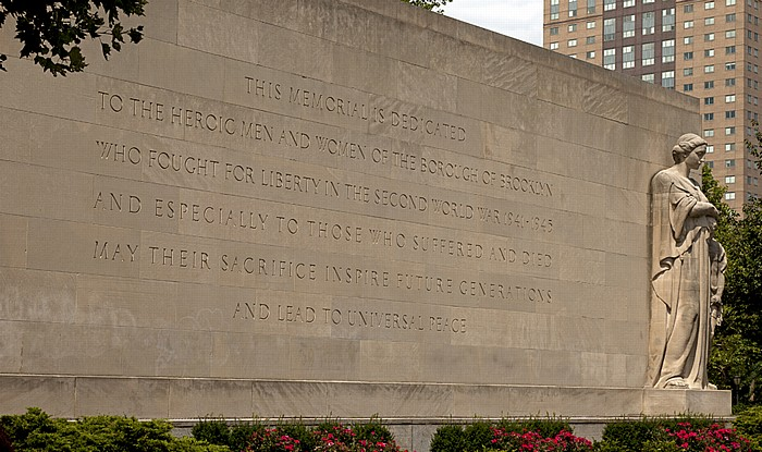 Downtown Brooklyn: Cadman Plaza Park - Brooklyn War Memorial New York City