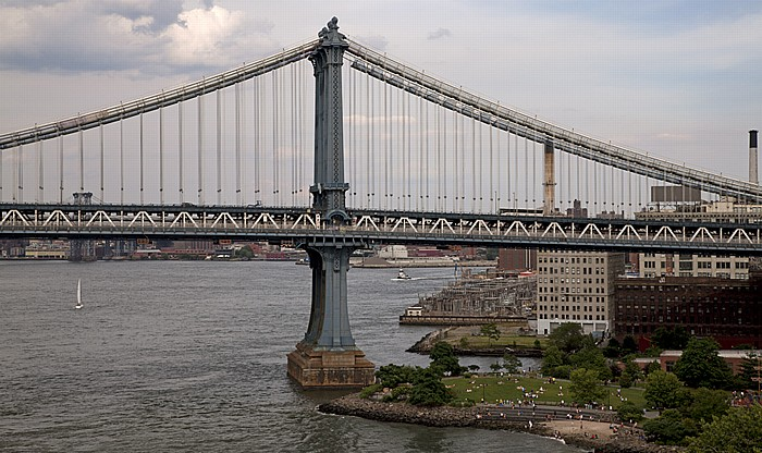 Blick von der Brooklyn Bridge New York City